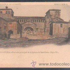 Postales: TARJETA POSTAL TORRELAVEGA - FACHADA PRINCIPAL DE LA IGLESIA DE SANTILLANA (SIGLO XI). LEER. Lote 30992082