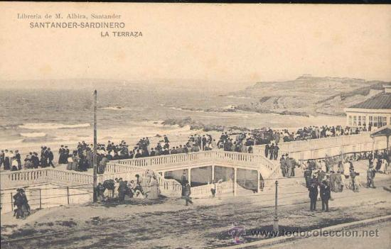 SANTANDER-SARDINERO- LA TERRAZA (Postales - España - Cantabria Antigua (hasta 1.939))