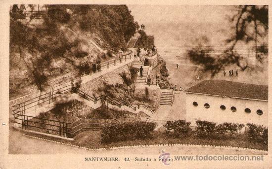 Postales: LOTE 5 POSTALES SANTANDER Jardines y Paseo Pereda. Piquío. Playa y península de la Magdalena. - Foto 3 - 32003427