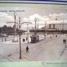 Postales: POSTAL ANTIGUA SANTANDER. AVENIDA ALFONSO XIII. EDICIÓN VILCHES. . Lote 32663226