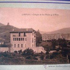 Postales: POSTAL ANTIGUA LIMPIAS. COLEGIO DE LOS PAULES Y EL RELOJ. ESCRITA. Lote 32663283