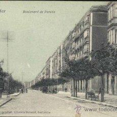 Postales: SANTANDER.- BOULEVARD DE PEREDA. Lote 33814789