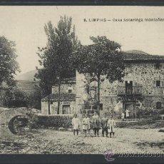 Postales: LIMPIAS - 8 - CASA SOLARIEGA MONTAÑESA - (11.443). Lote 33883296