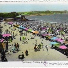 Postales: BONITA POSTAL - SANTANDER - SARDINERO - PRIMERA PLAYA - MUY AMBIENTADA - ED. ARRIBAS . Lote 34033129