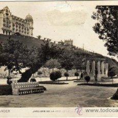 Postales: BONITA POSTAL - SANTANDER - JARDINES DE LA AVENIDA PABLO IGLESIAS- L. ROISIN - FOTÓGRAFO. Lote 34116819