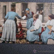 Postales: POSTAL SANTANDER ANTERIOR A 1905 PUESTO DE LANGOSTAS Y MARISCOS. Lote 34334703