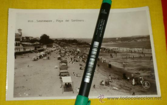 POSTAL FOTOGRAFICA NUM 2105., SANTANDER., PLAYA DEL SARDINERO – EDICIONES UNIQUE (Postales - España - Cantabria Antigua (hasta 1.939))