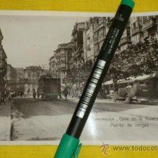 Postales: POSTAL FOTOGRAFICA NUM 2108., SANTANDER., CALLE DE LA RIVERA Y PUENTE DE VERGAS – EDICIONES UNIQUE . Lote 34513587