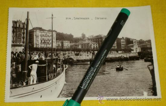 POSTAL FOTOGRAFICA NUM 2114., SANTANDER., DARSENA – EDICIONES UNIQUE (Postales - España - Cantabria Antigua (hasta 1.939))