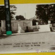 Postales: POSTAL FOTOGRAFICA NUM 2119., SANTANDER., FUENTE CONCHA ESPINA,EN PASEO PEREDA – EDICIONES UNIQUE . Lote 34514504