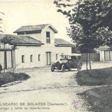 Postales: BALNEARIO DE SOLARES (CANTABRIA).- GARAJE Y TALLER DE REPARACIONES. Lote 34625073