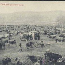Postales: REINOSA (CANTABRIA).- FERIAL DE GANADO VACUNO. Lote 34625148
