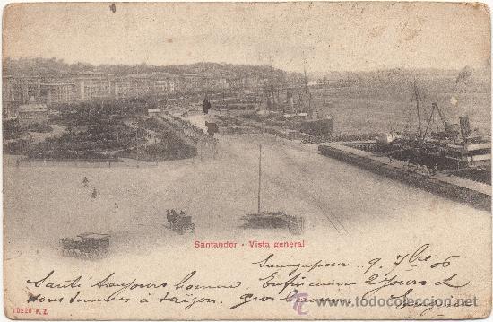 SANTANDER.- VISTA GENERAL. (C.1905). (Postales - España - Cantabria Antigua (hasta 1.939))