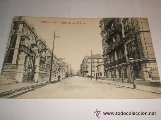 SANTANDER CALLE REINA VICTORIA (Postales - España - Cantabria Antigua (hasta 1.939))