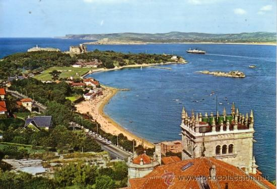 SANTANDER - PENINSULA DE LA MAGDALENA -FOTO ALSAR 1968 (Postales - España - Cantabria Moderna (desde 1.940))