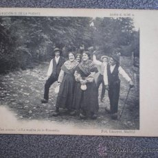 Postales: POSTAL ANTERIOR A 1905 PEÑAS ARRIBA LA VUELTA DE LA ROMERÍA FOT. LAURENT. Lote 35588513