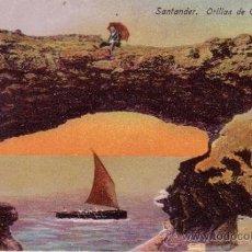 Postales: SANTANDER - ORILLAS DE CABO MAYOR - EDITA CASA FUERTES. Lote 35592013