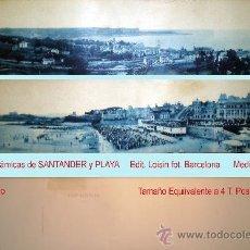 Postales: PAR DE T.P. PANORÁMICAS DE SANTANDER, MISMO EDITOR. PPIOS. SIGLO XX.. Lote 35685281