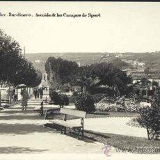 Postales: SANTANDER.- SARDINERO.- AVENIDA DE LOS CAMPOS DE SPORT. Lote 36283602