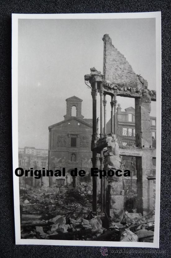 (JX-802)POSTAL FOTOGRAFICA DE SANTANDER-INCENDIO DEL 15-FEBRERO-1941.FOTO SAMOT (Postales - España - Cantabria Moderna (desde 1.940))