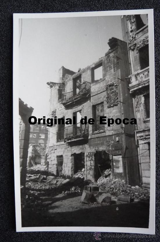 (JX-805)POSTAL FOTOGRAFICA DE SANTANDER-INCENDIO DEL 15-FEBRERO-1941.FOTO SAMOT (Postales - España - Cantabria Moderna (desde 1.940))