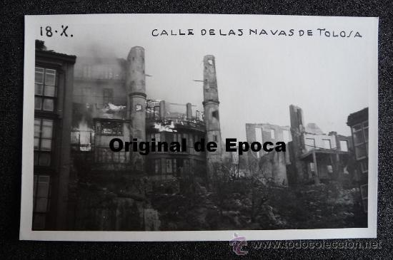 (JX-808)POSTAL FOTOGRAFICA DE SANTANDER-INCENDIO DEL 15-FEBRERO-1941.FOTO SAMOT (Postales - España - Cantabria Moderna (desde 1.940))