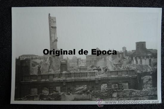 (JX-810)POSTAL FOTOGRAFICA DE SANTANDER-INCENDIO DEL 15-FEBRERO-1941.FOTO SAMOT (Postales - España - Cantabria Moderna (desde 1.940))