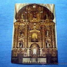 Postales: POSTAL LAS CALDAS DE BESAYA SANTUARIO DE NUESTRA SEÑORA ALTAR MAYOR NO CIRCULADA. Lote 36368232