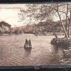 Postales: TARJETA POSTAL DE LIMPIAS - A LA PESCA DEL SALMON. 11. FOTOS LEONCIO A. MARUGAN. Lote 36653071