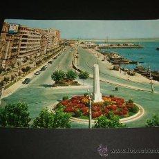 Postales: SANTANDER AVENIDA DE CASTELAR Y PUERTO CHICO 1962. Lote 37016733