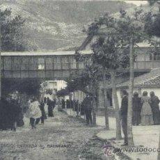 Postales: PUENTE VIESGO (CANTABRIA).- ENTRADA AL BALNEARIO. Lote 37103627