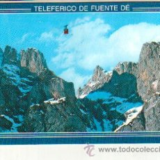 Postales: POSTAL SIN CIRCULAR DE FUENTE DE PRECIOSO PAISAJE Y TELEFERICO. Lote 37141329