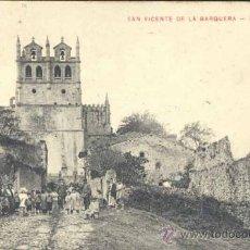 Postales: SAN VICENTE DE LA BARQUERA (CANTABRIA).- LA IGLESIA. Lote 37470091