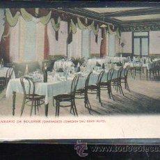 Postales: TARJ. POSTAL DE SANTANDER - BALNEARIO DE SOLARES. COMEDOR DEL GRAN HOTEL. 7.. Lote 37642920