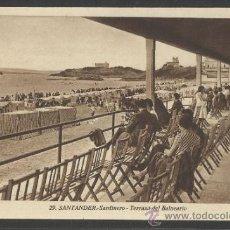 Postales: SANTANDER - 29 - SARDINERO - TERRAZA DEL BALNEARIO - ROISIN - (16.652). Lote 37820748