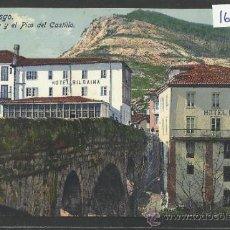 Postales: PUENTE VIESGO - EL PUENTE Y EL PICO DEL CASTILLO - FUERTES - (16964). Lote 38094447