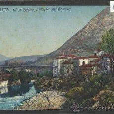 Postales: PUENTE VIESGO - EL BALNEARIO Y EL PICO DEL CASTILLO - FUERTES - (16966). Lote 38094493