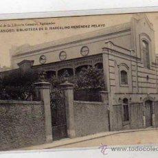 Postales: SANTANDER BIBLIOTECA DE D. MARCELINO MENÉNDEZ PELAYO. LIBRERIA GENERAL, SANTANDER. CIRCULADA.. Lote 38124181