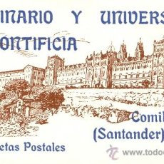 Postales: COMILLAS (CANTABRIA). 25 TARJETAS POSTALES DEL SEMINARIO Y UNIVERSIDAD PONTIFICIA. C. 1960. Lote 38494303