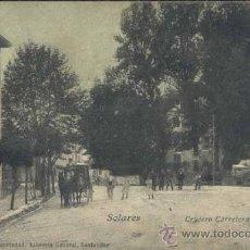 Postales: SOLARES (CANTABRIA).- CRUCERO CARRETERAS. Lote 38870784