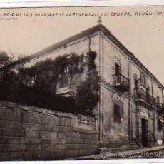 Postales: POSTAL FOTOGRÁFICA. TORRELAVEGA. PALACIO DE LOS MARQUESES DE BENEMEJIS REDON FOTO. CANTABRIA. . Lote 39044874