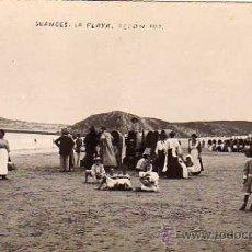 Postales: SUANCES. POSTAL FOTOGRÁFICA. LA PLAYA. FOTO REDON. ESCRITA EN 1909. SIN CIRCULAR.. Lote 39069331