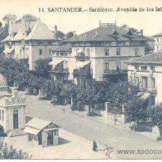 Postales: PS0913 SANTANDER 'SARDINERO. AVENIDA DE LOS INFANTES'. SIN REFERENCIAS Y SIN CIRCULAR. Lote 39293162