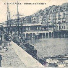 Postales: PS0914 SANTANDER 'DÁRSENA DE MOLNEDO'. SIN REFERENCIAS Y SIN CIRCULAR. Lote 39293185