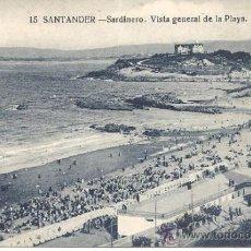 Postales: PS0915 SANTANDER 'SARDINERO. VISTA GENERAL DE LA PLAYA'. SIN REFERENCIAS Y SIN CIRCULAR. Lote 39293206