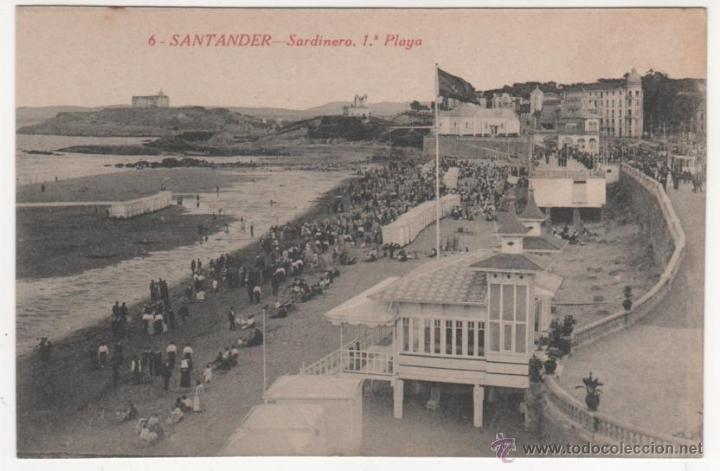 SANTANDER.-SARDINERO. 1.ª PLAYA (Postales - España - Cantabria Antigua (hasta 1.939))