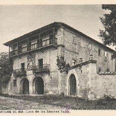 Postales: SANTILLANA DEL MAR, CASA DE LOS SANCHEZ TAGLE, EDITOR YPSO Nº 12. Lote 39828478