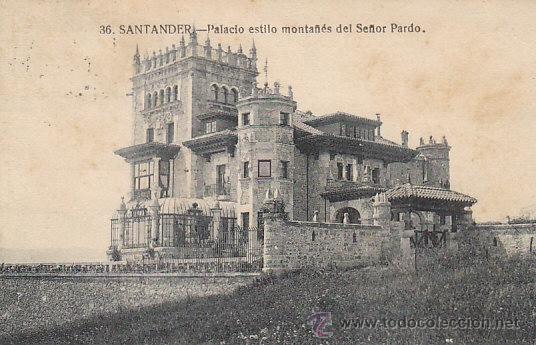SANTANDER, PALACIO ESTILO MONTAÑES DEL SEÑOR PARDO, EDITOR LA IDEAL Nº 36, CIRCULADO (Postales - España - Cantabria Antigua (hasta 1.939))