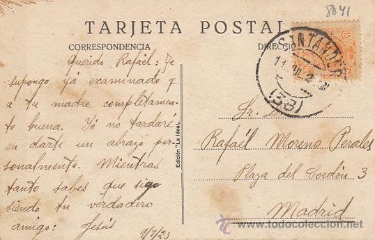 Postales: Santander, palacio estilo montañes del señor Pardo, editor La ideal nº 36, circulado - Foto 2 - 39828552
