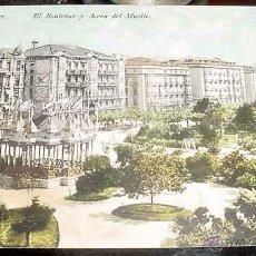 Postales: ANTIGUA FOTO POSTAL DE SANTANDER - EL BOULEVAR Y ACERA DEL MUELLE - NO CIRCULADA - ED. PURGER.. Lote 38244875